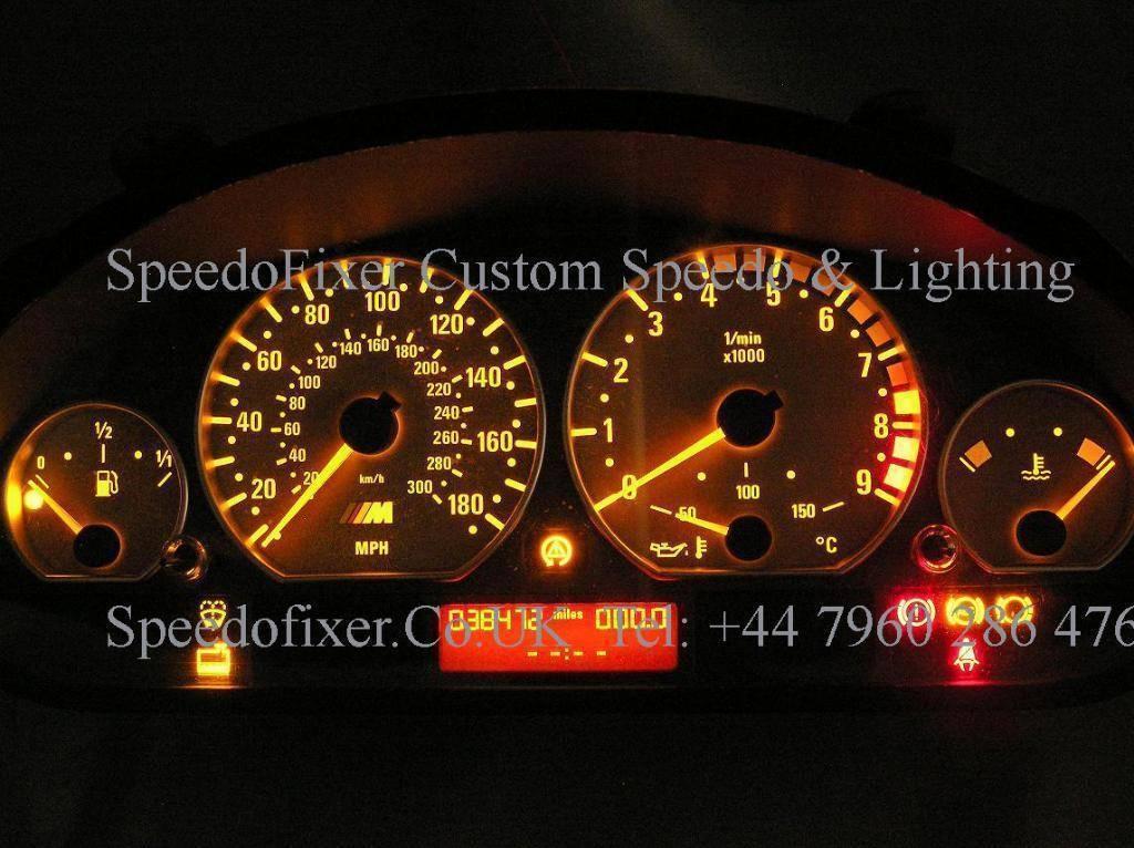 Bmw E46 White Light Upgrade For Speedo Cluster