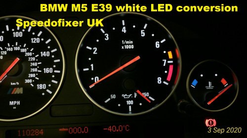 bmw e39 m5 speedo white LED conversion