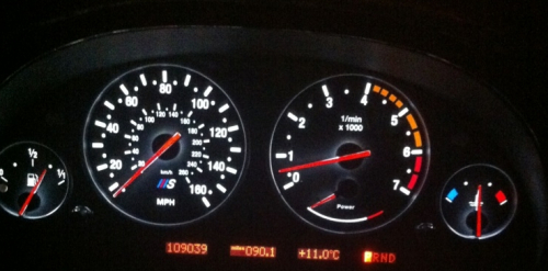 bmw custom black dial kit with white LED speedo instrument conversion
