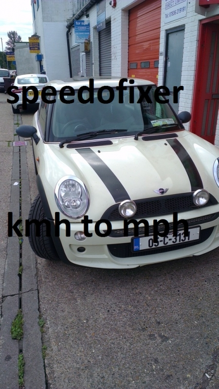 bmw mini kmh to mph dial face conversions